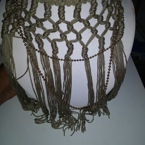 Light green necklace with tassels